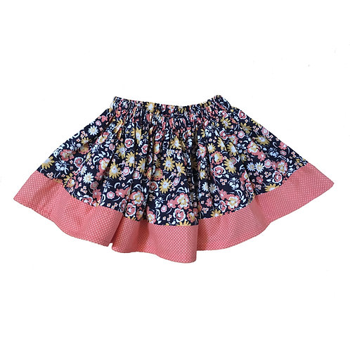 Peach Floral Ana Skirt