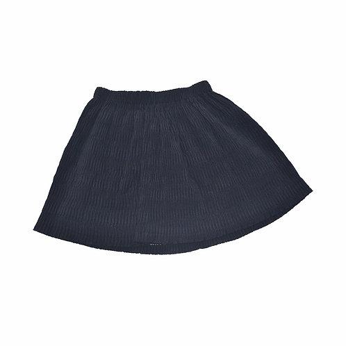 Navy Textured Skirt