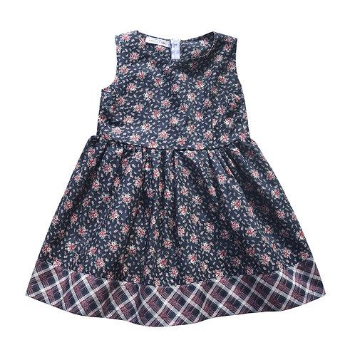 Plaid Floral Cosette Dress