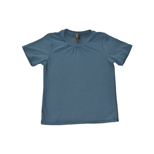 Blue Short Sleeve Top