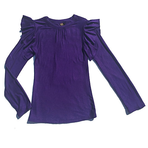 Grape Cleo Top