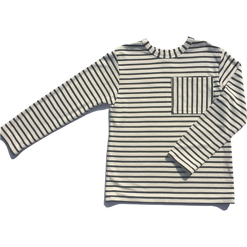 Striped Pocket Long Sleeve