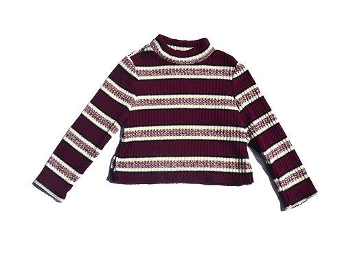 Maroon Stripe Sweater