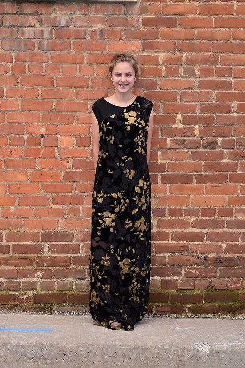 Gold Floral Maxi Dress