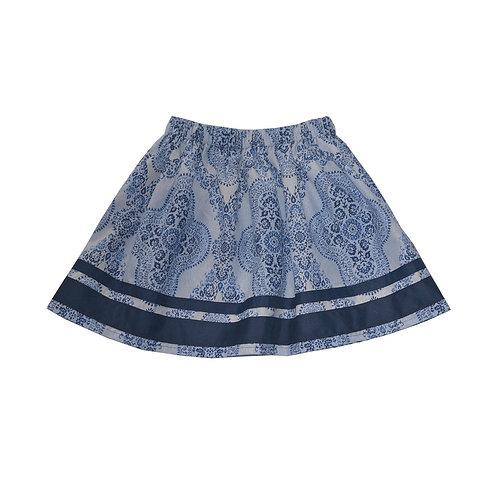 Navy Ribbon Soleil Skirt
