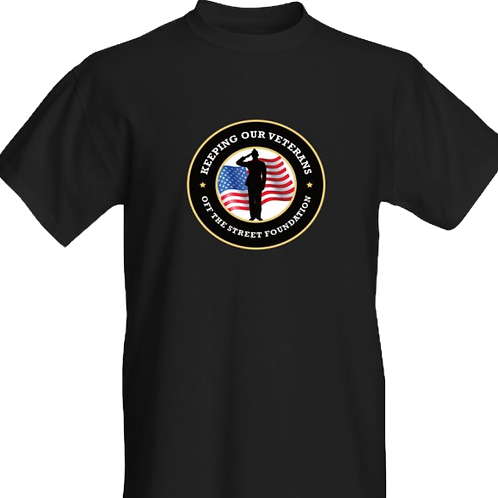 KEEPING OUR VETERANS  OFF THE STREET T-SHIRT