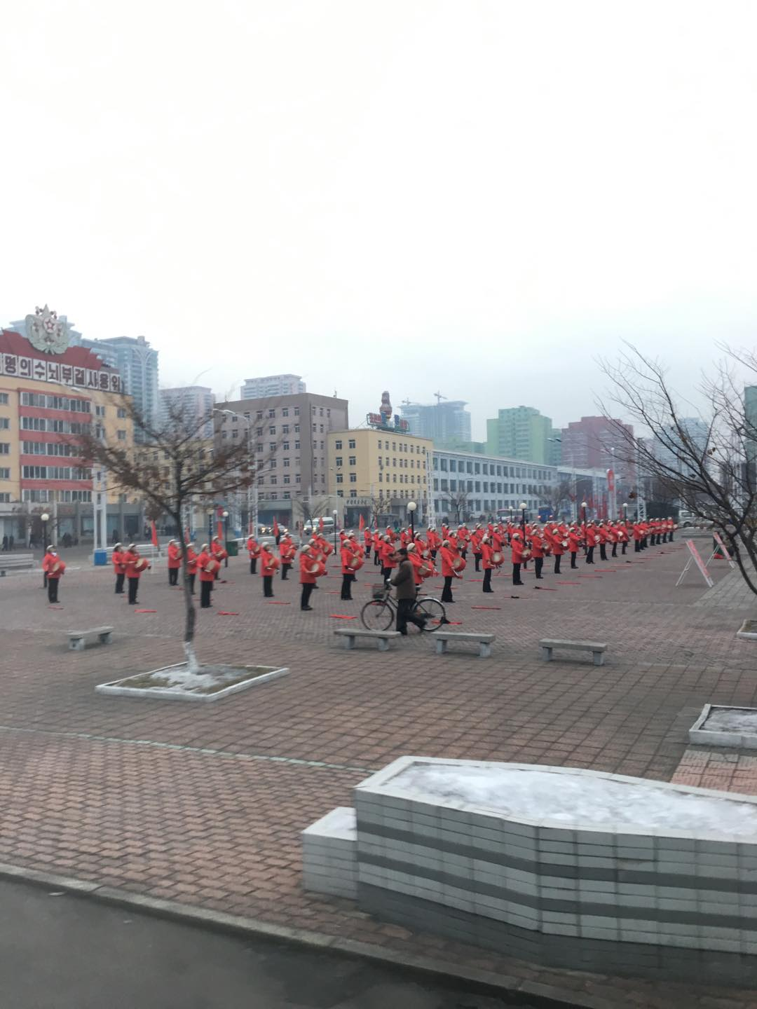 The square in front of Pyongyang Train Station