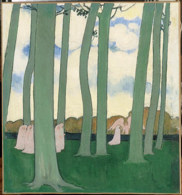 """""""Les arbres verts ou les Hêtres de Kerduel""""  Maurice Denis"""