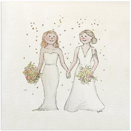 Mrs & Mrs Wedding Card