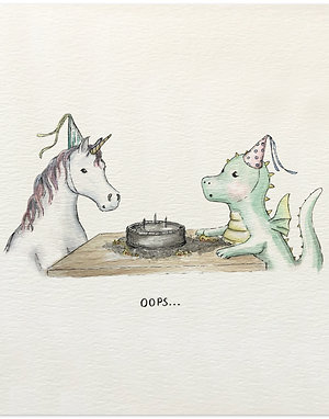Dragon & Unicorn Birthday Card