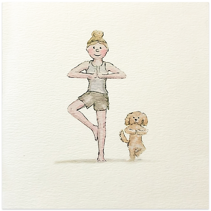 Yoga Dog Card