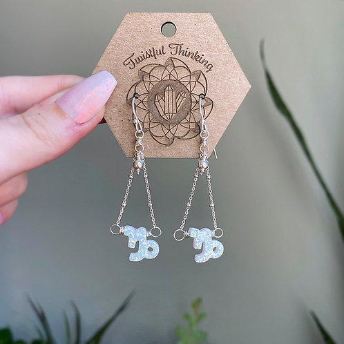 Zodiac Earrings - Capricorn