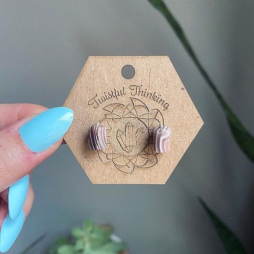 Raw Montana Agate Stud Earrings