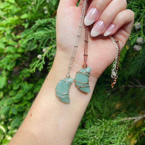 Amazonite Moon Necklace