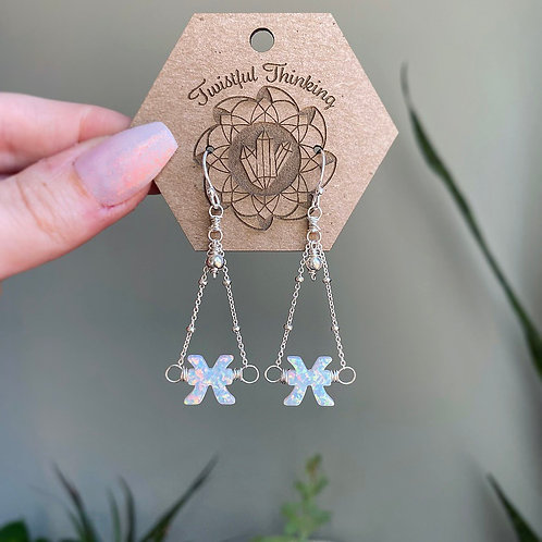 Zodiac Earrings - Pisces