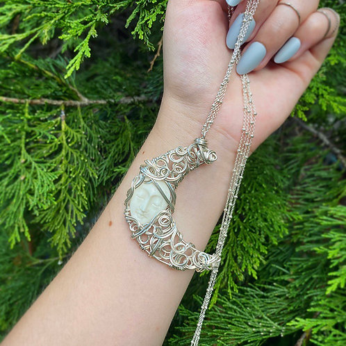 Woman In The Moon Necklace - Elora