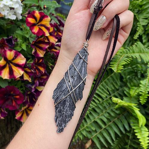 Black Kyanite Necklace