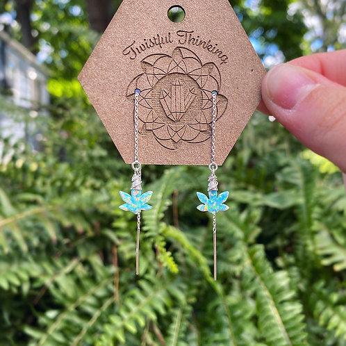 Lab Opal Canna Princess Threader Earrings