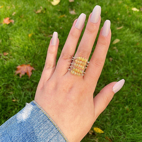 Ethiopian Opal Stacking Ring