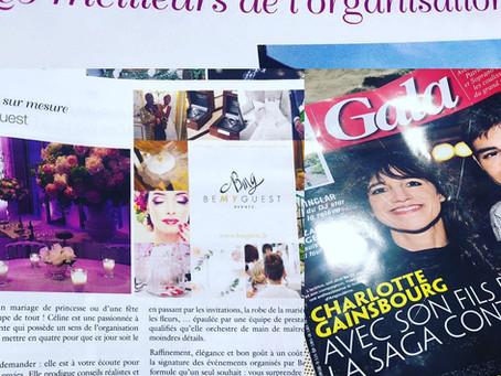 BeMyGuest, agence évènementielle inscrite  dans le carnet d'adresse de GALA...