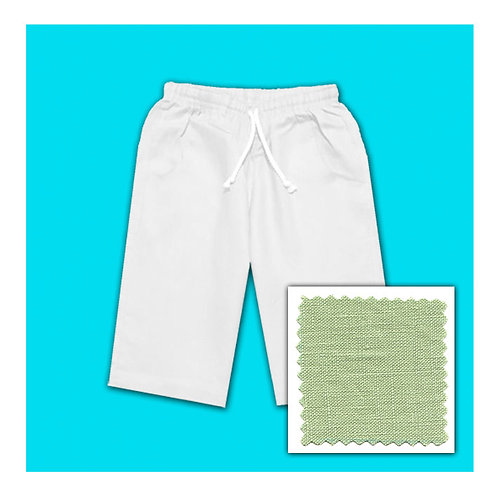 Womens Linen Shorts - Lagoon