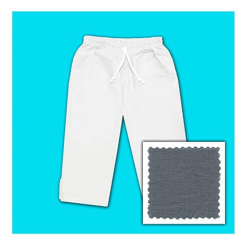 Linen Capris - Grey