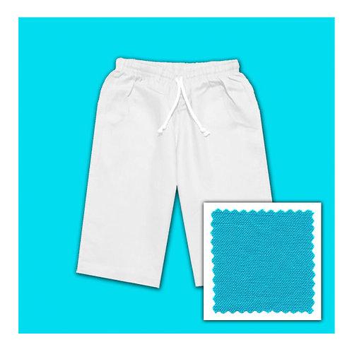 Linen Shorts - Aqua
