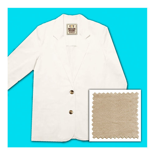 Womens Cotton Jacket - Stone