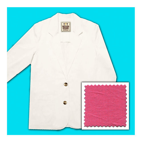 Womens Cotton Jacket - Hot Pink