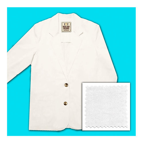 Womens Cotton Jacket - White