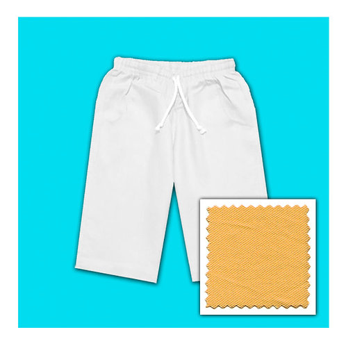 Womens Cotton Shorts - Gold