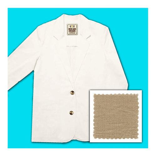 Womens Linen Jacket - Caramel