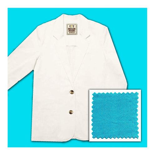 Womens Cotton Jacket - Aqua