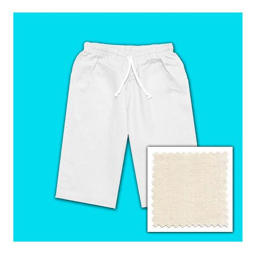 Womens Cotton Shorts - Natural