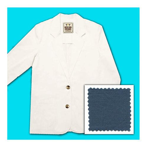 Womens Linen Jacket - Indigo