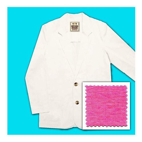 Linen Jacket - Fuchsia