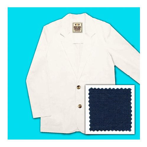 Linen Jacket - Navy