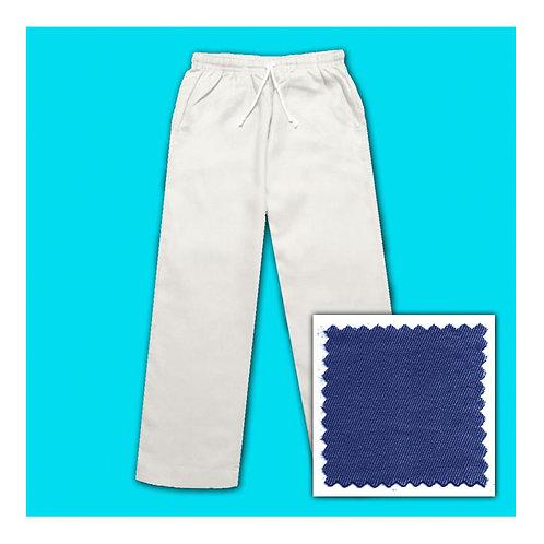 Cotton Pants - Light Navy
