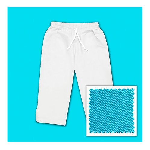 Womens Cotton Capris - Aqua