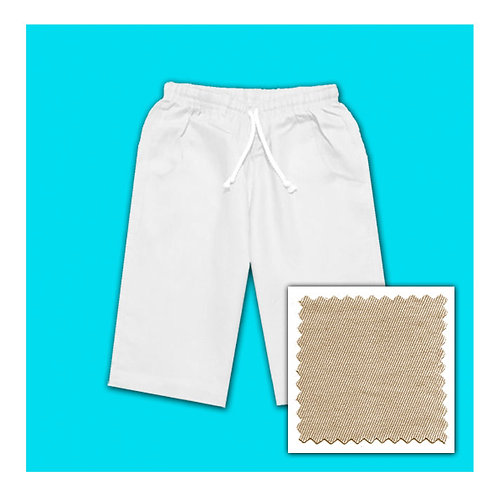 Womens Cotton Shorts - Stone