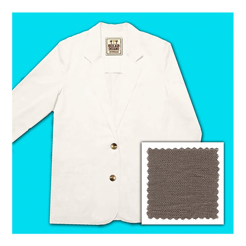 Womens Linen Jacket - Mocca