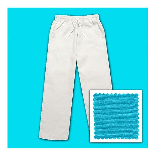 Linen Pants - Aqua