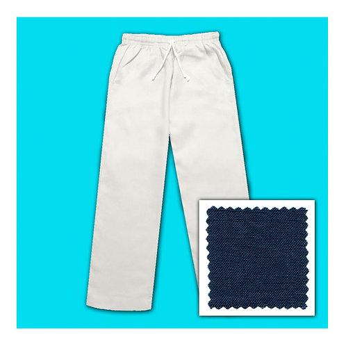 Women's Linen Pants - Navy