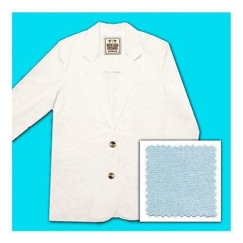 Womens Linen Jacket - Blue Ice