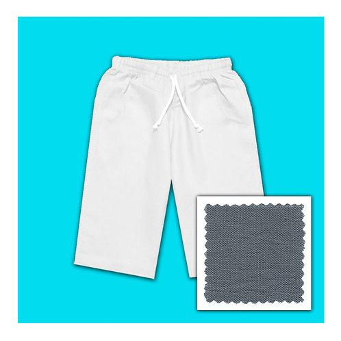 Womens Linen Shorts - Grey
