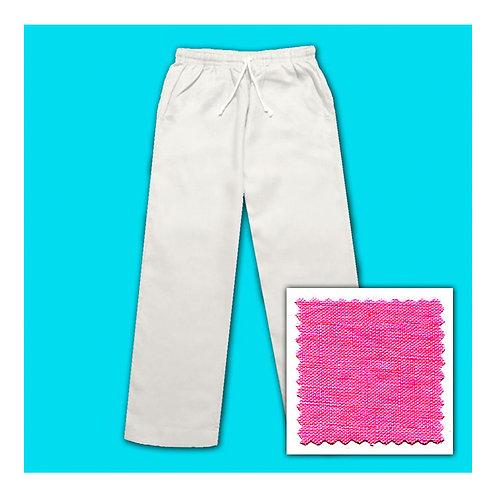 Linen Pants - Fuchsia