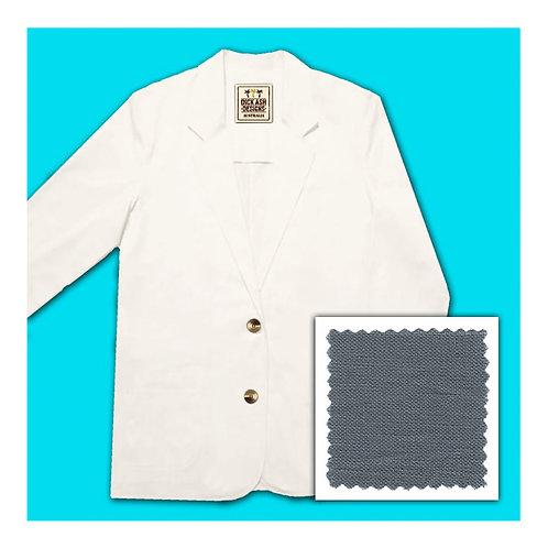 Womens Linen Jacket - Grey