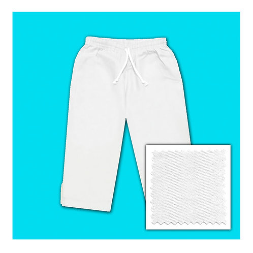 Cotton Capris - White