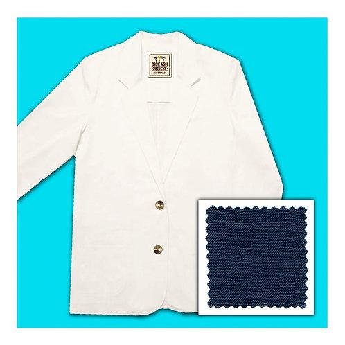 Womens Linen Jacket - Navy