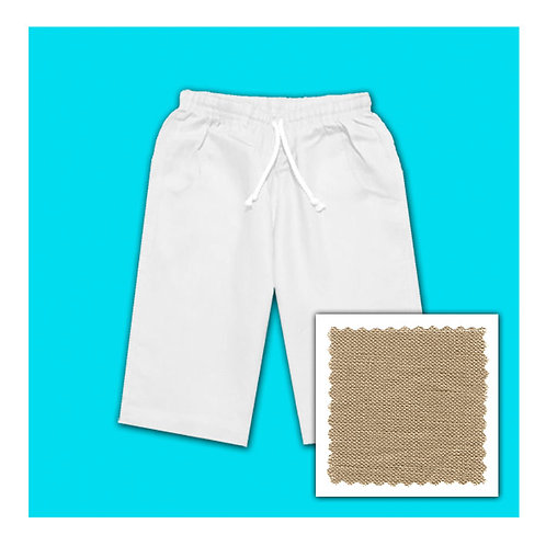 Womens Linen Shorts - Caramel